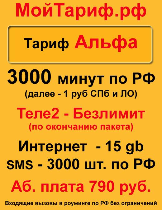 Теле2 Безлимитные звонки на номера РФ